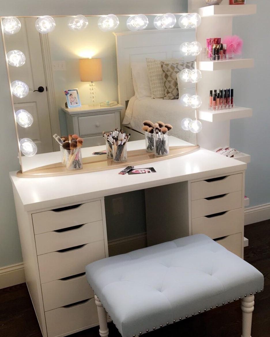 Bedroom Impressive Makeup Vanities Ikea With Magnificent