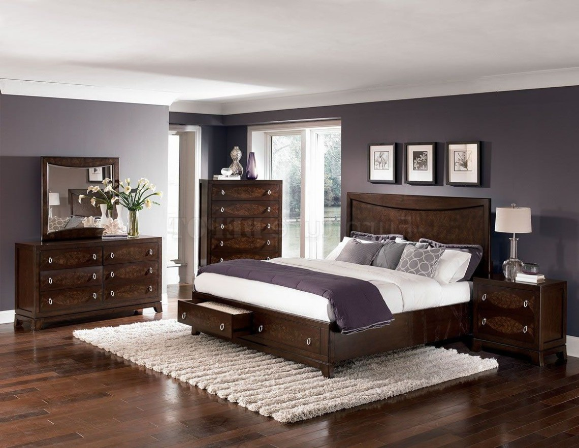 Bedroom Paint Colors With Cherry Furniture Brown