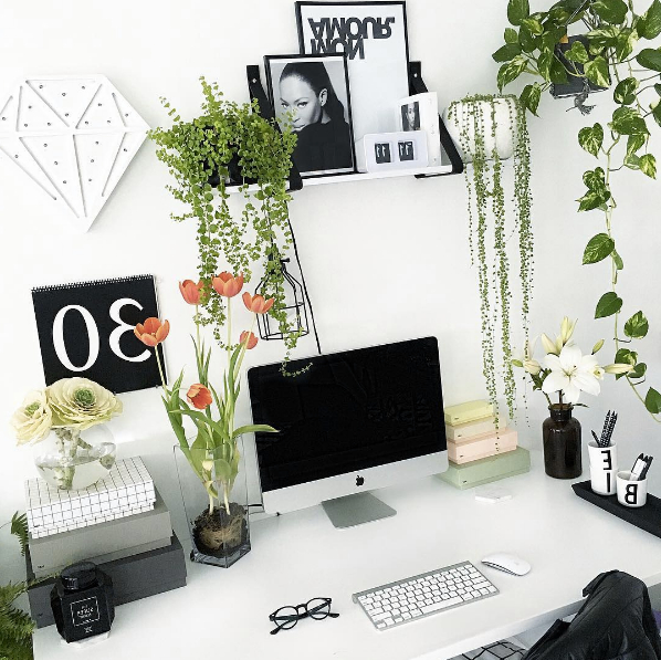 Best Home Office Decorating Ideas On Instagram White