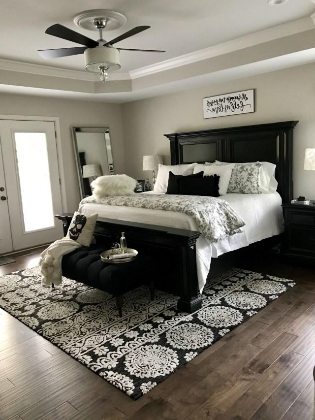 Black And White Master Bedroom Design White Living Room