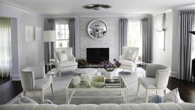 Blue And Gray Living Room Contemporary Living Room