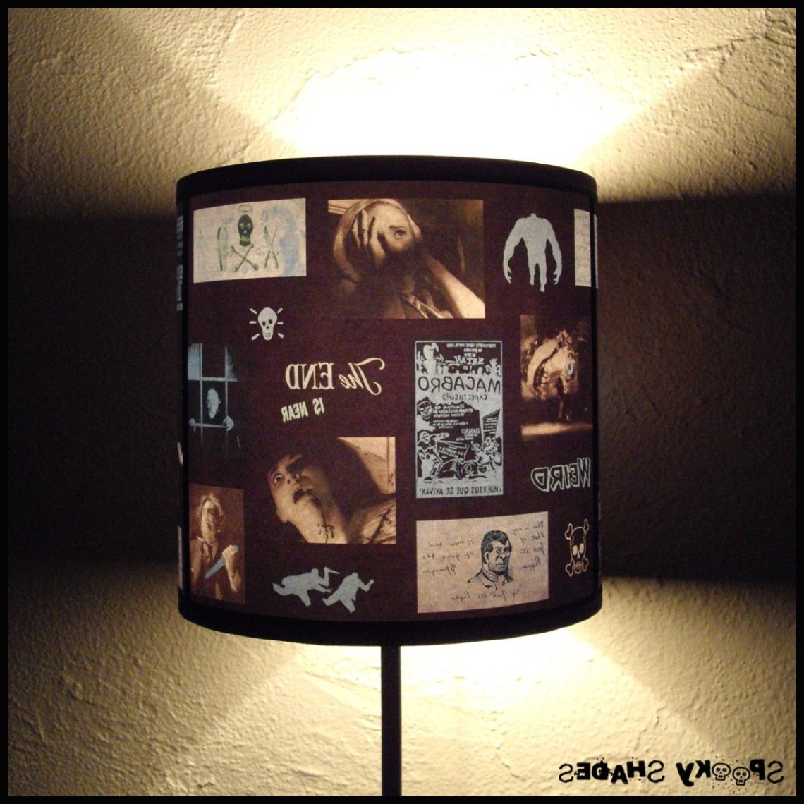 Blue Horror Lamp Shade Lampshade Unique Lighting