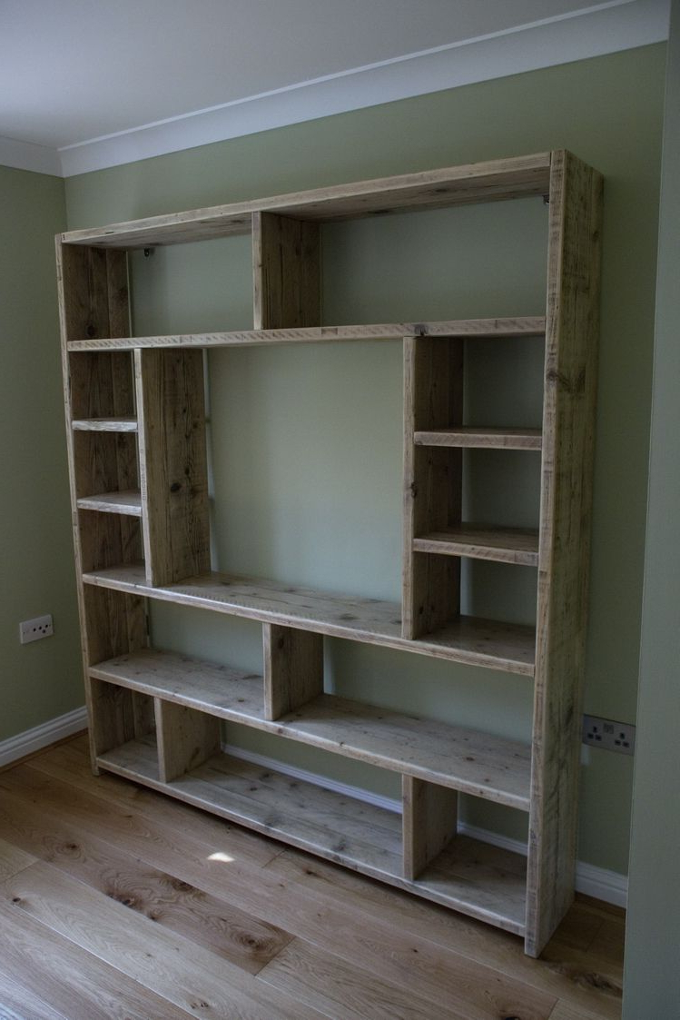 Bookcase Variation Made From Old Scaffold Boards