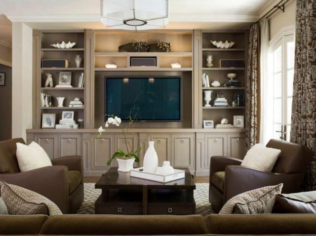 Brilliant Built In Shelves Ideas For Living Room 48