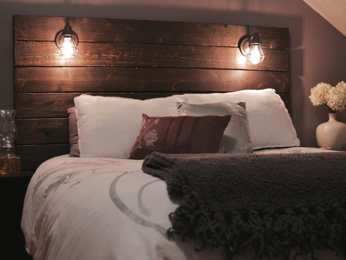 Build A Rustic Wooden Headboard Rustic Wooden Headboard