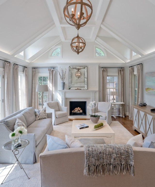 Calm And Cool In Chevy Chase Interior Design Living Room
