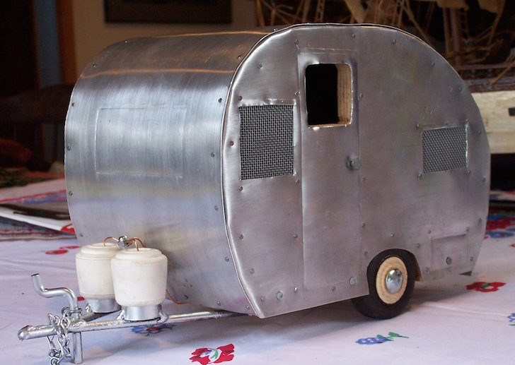 Camper Bird House Based On A Real Life 1953 Bell Trailer