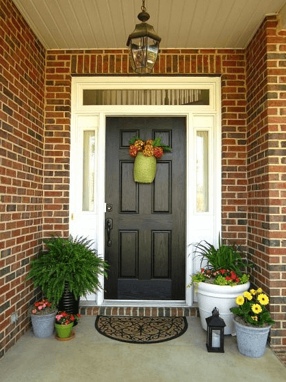 Chandelier For Front Porch Brick Wall Outside Decoration