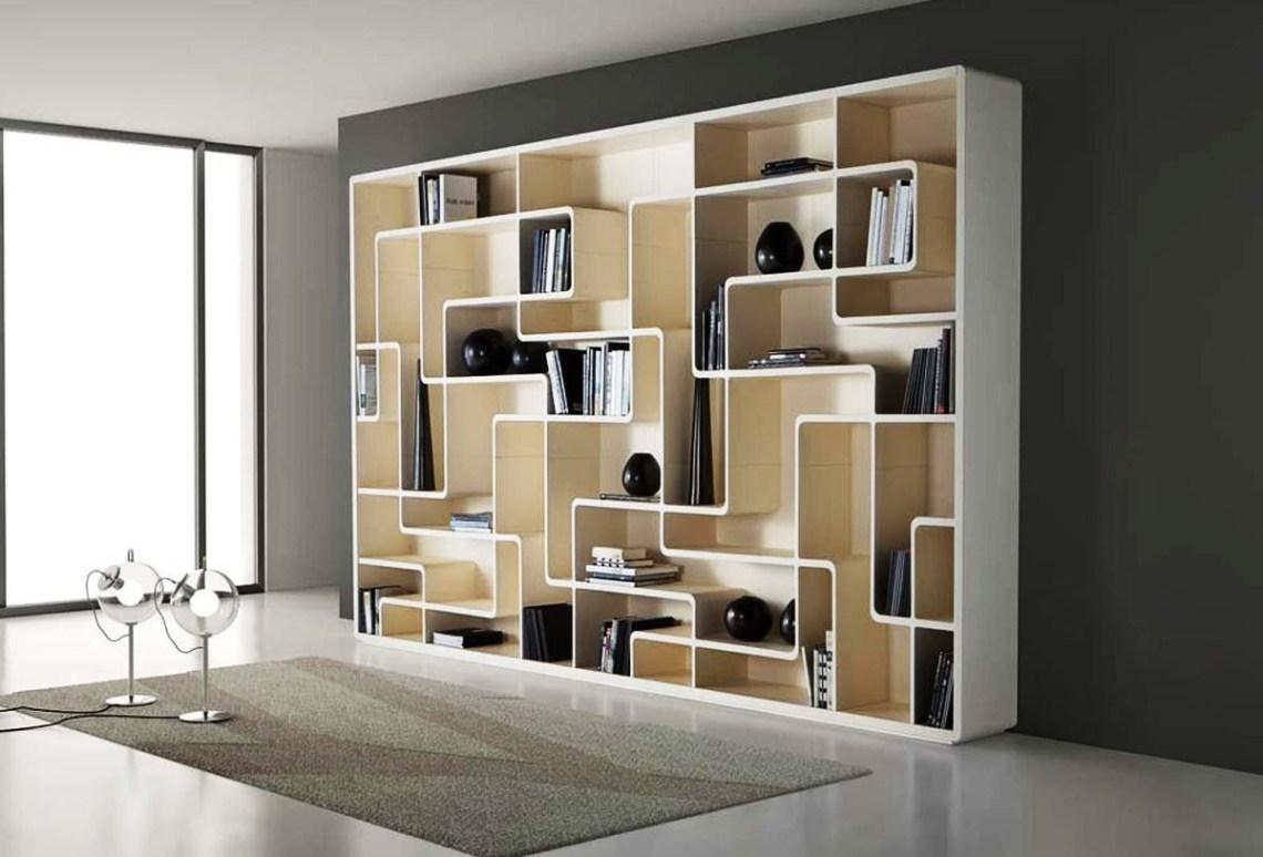 Charming White Wooden Bookshelf Design With Beautiful