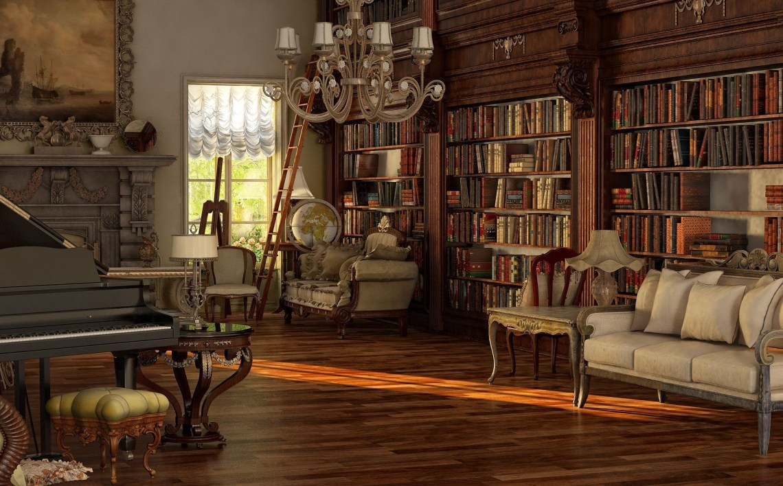 Chic Peru Victorian Living Room Sweet Library Dark Gothic