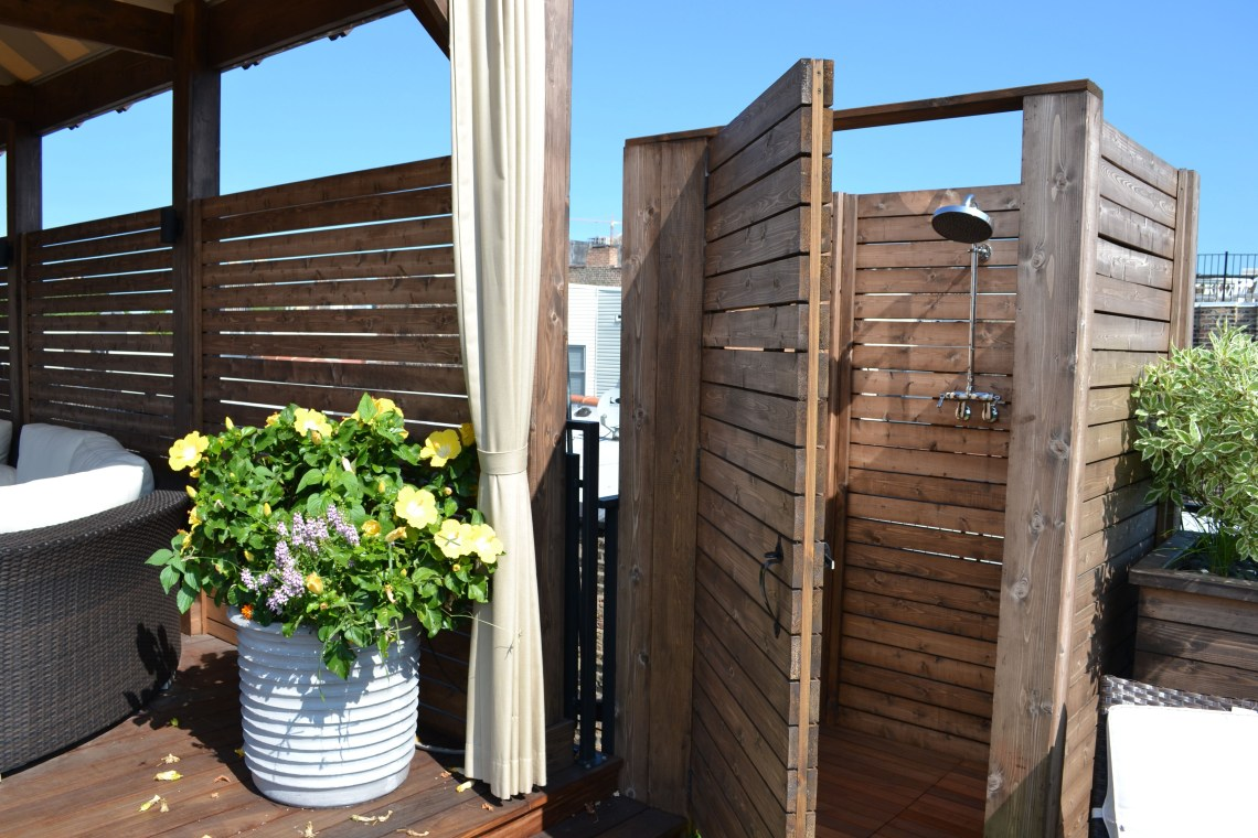 Chicago Outdoor Shower Planter Outdoor Patio Space