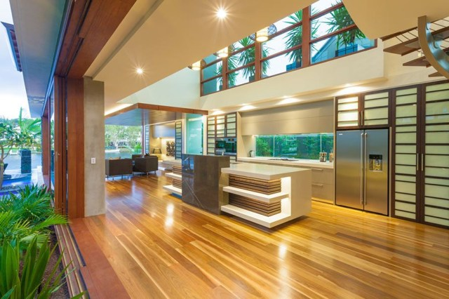 Chris Clout Design Modern Resort Kitchen In The Tropical