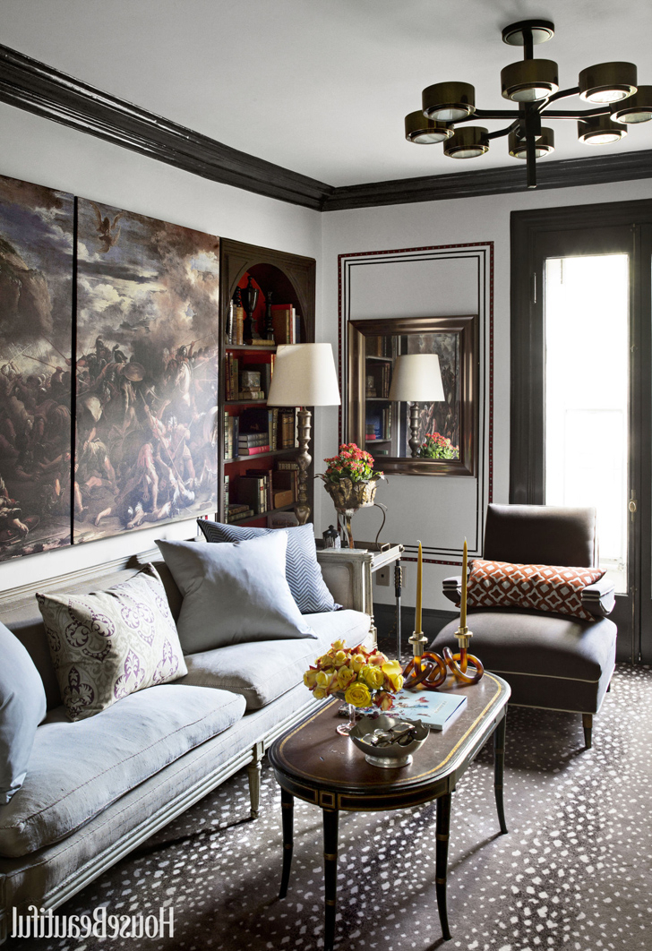 Classic Interior Of A Townhouse In Montreal In Dark Colors