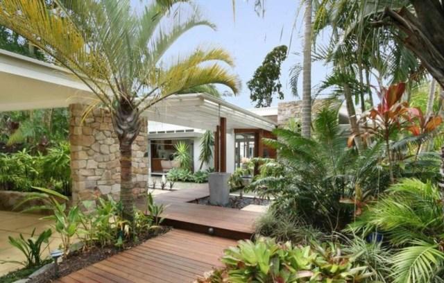 Collection In Tropical Backyard Ideas Outdoor Tropical