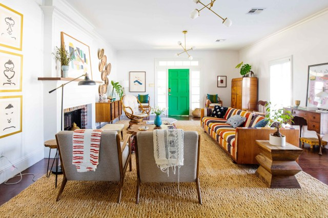 Colorful Bohemian Living Space Drawing Inspiration From