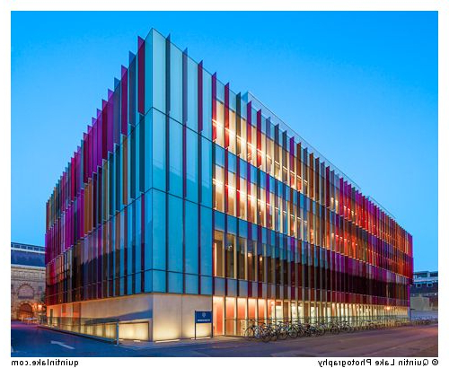 Coloured Glass Fins Of The New Oxford University