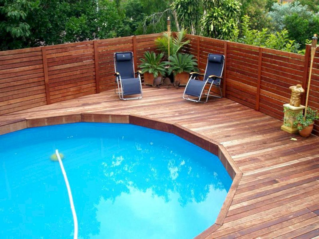 Cool 20 Stunning Wood Pool Deck Design For Home Outdoor