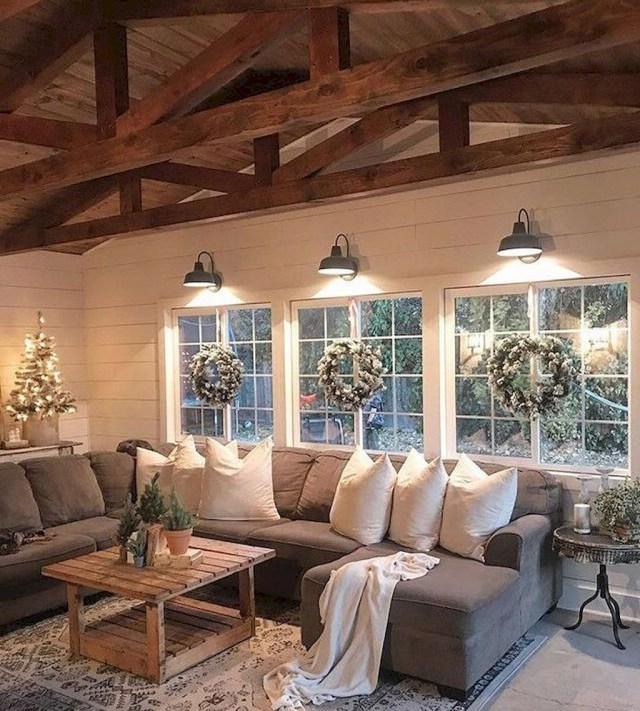 Cool 43 Amazing Rustic Farmhouse Living Room Design Ideas