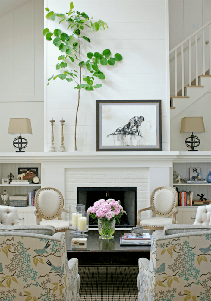 Covering Rock Fireplace With Shiplap Fireplace Ideas