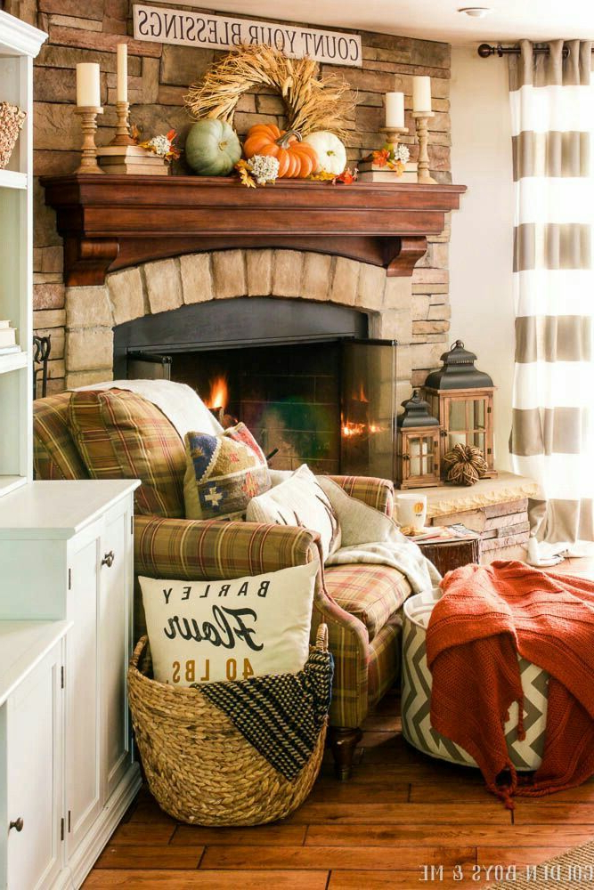 Cozy Autumn Blessings Farmhouse I In 2019 Fall Living