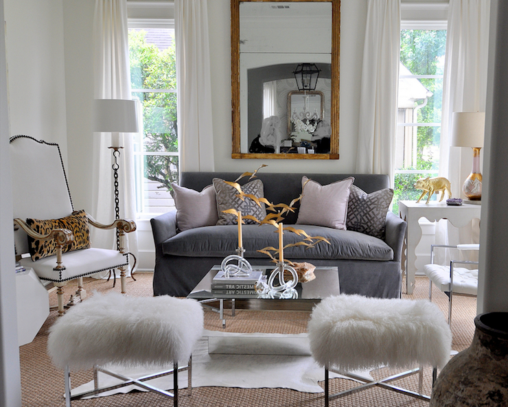 Crazy For Cowhide Living Room Living Room Grey Home