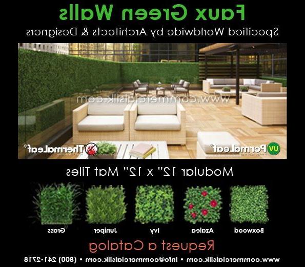 Create Lush Green Artificial Boxwood Hedge Panels Around