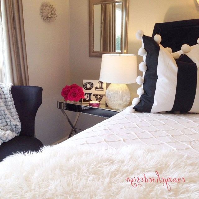 Crisp White Bedding Cozy Fur Throws And This Plump Pompom