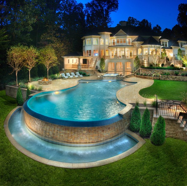 Custom Dream Homes With Luxury Pool And Garden Ideas 4 Homes