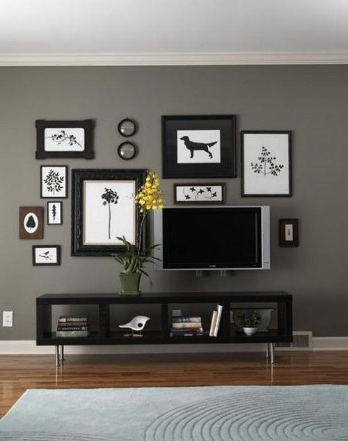 Decorating Around A Flat Screen Tv Decor Around Tv Tv