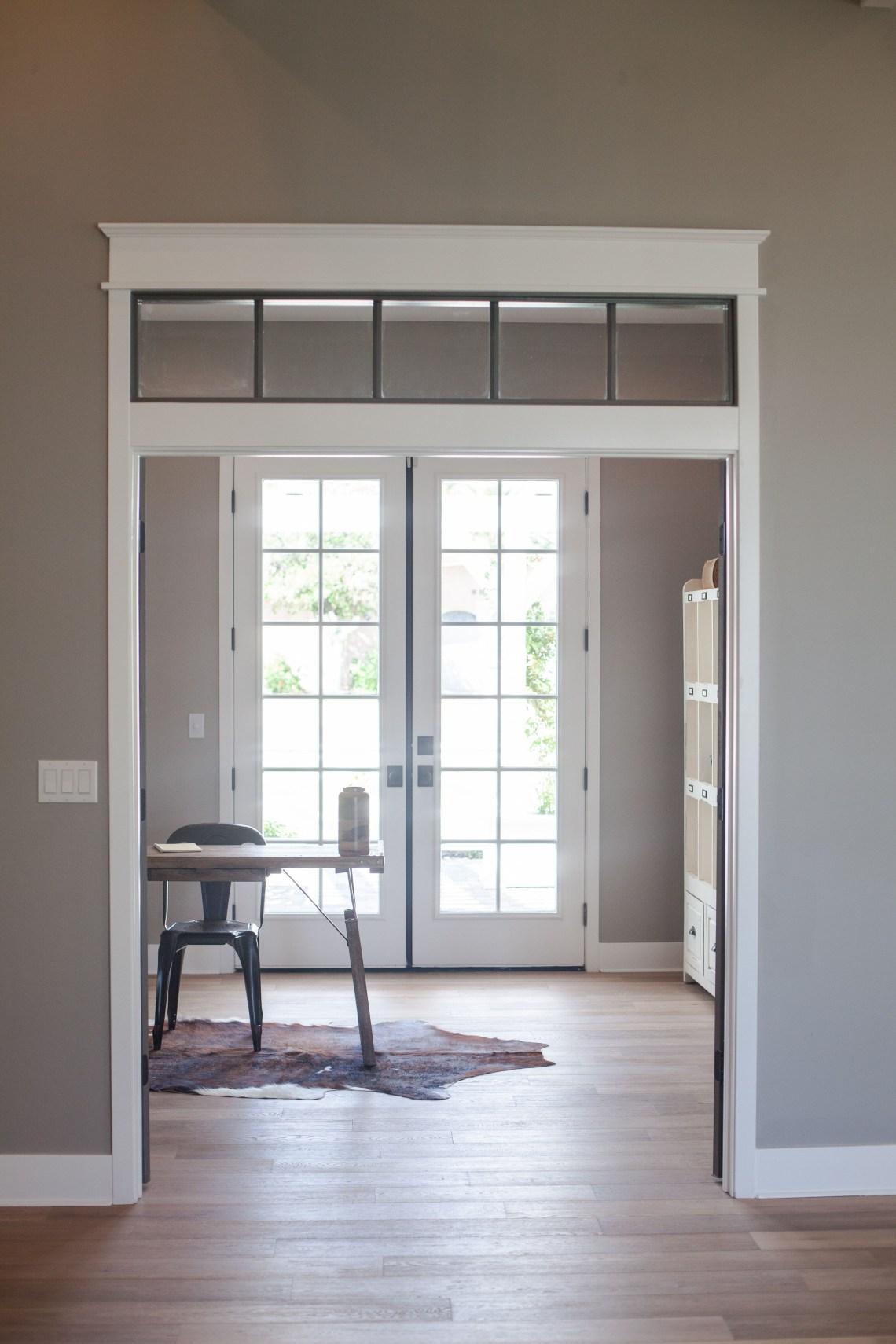 Decorative Look Transom Window Transom Window With Grey