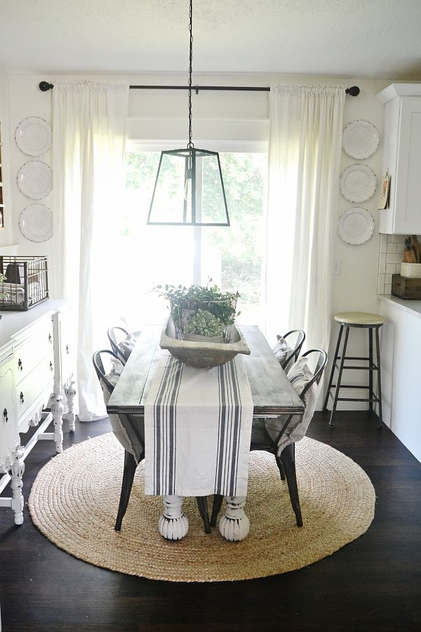 Dining Room Plate Wall Farmhouse Dining Room Table