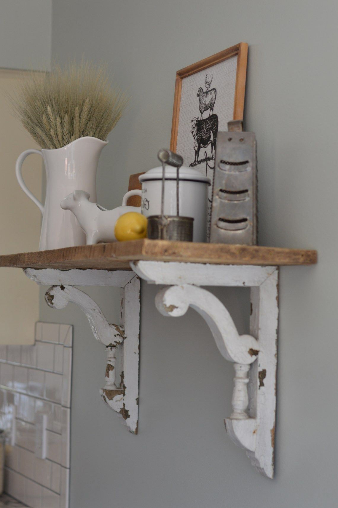 Diy Barn Wood Shelf Shab Grace