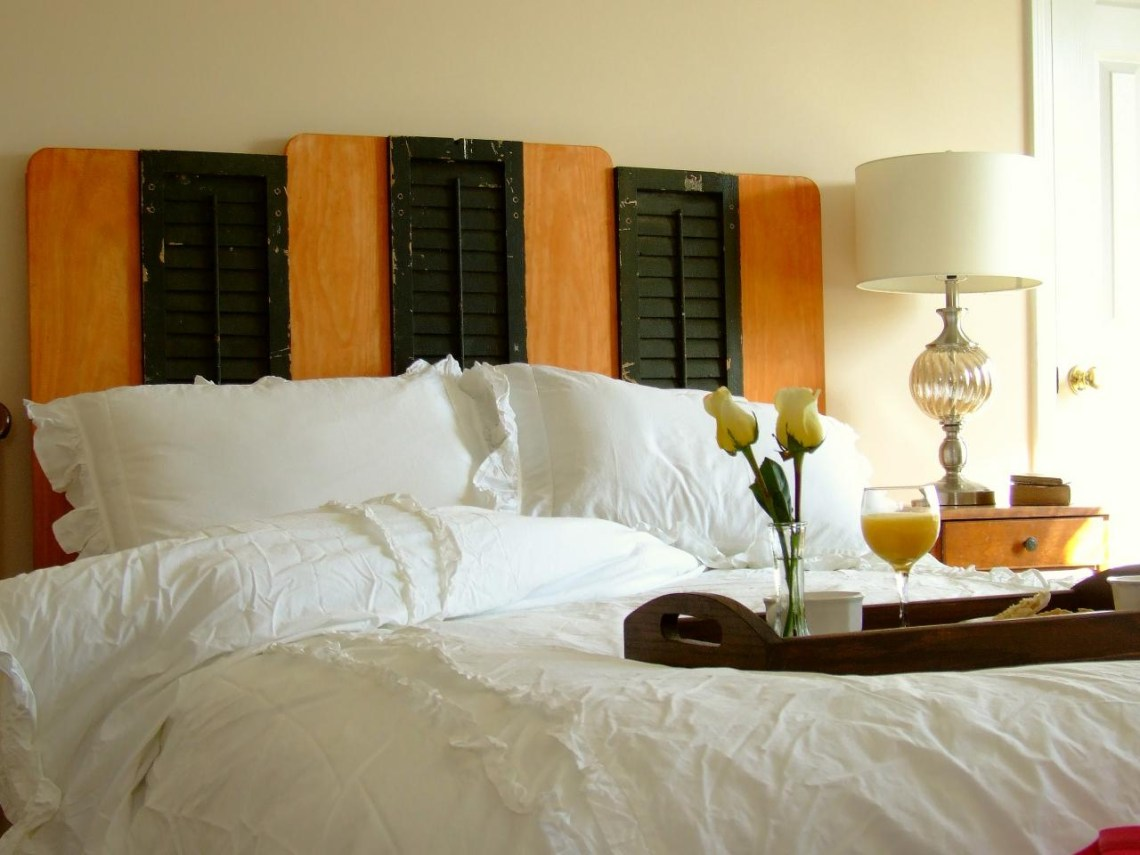 Diy Reclaimed Shutter Bedroom Headboard How Tos Diy