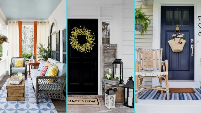 Diy Shab Chic Style Rustic Summer Front Porch Decor