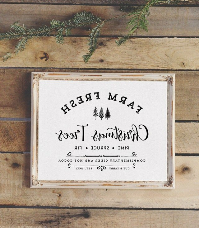 Download This Farm Fresh Christmas Trees Sign That You Can