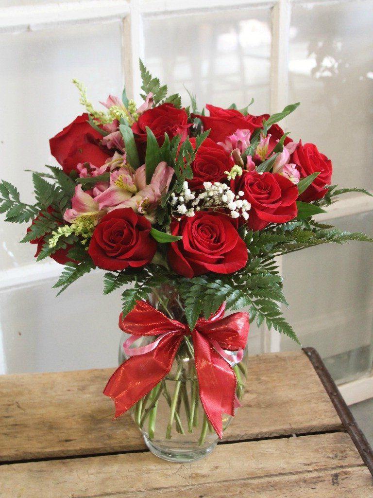 Dozen Roses Valentine Flower Arrangements Valentines