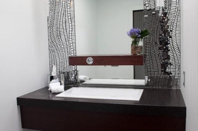 Elegant Contemporary Luxury Powder Room Contemporary
