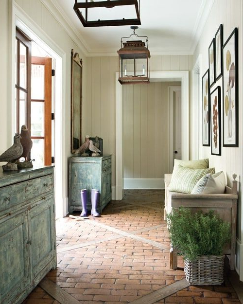 Elizabeth On Instagram I Love The Feel Of This Entry And The Brick Floor Is Fabulous Enjoy