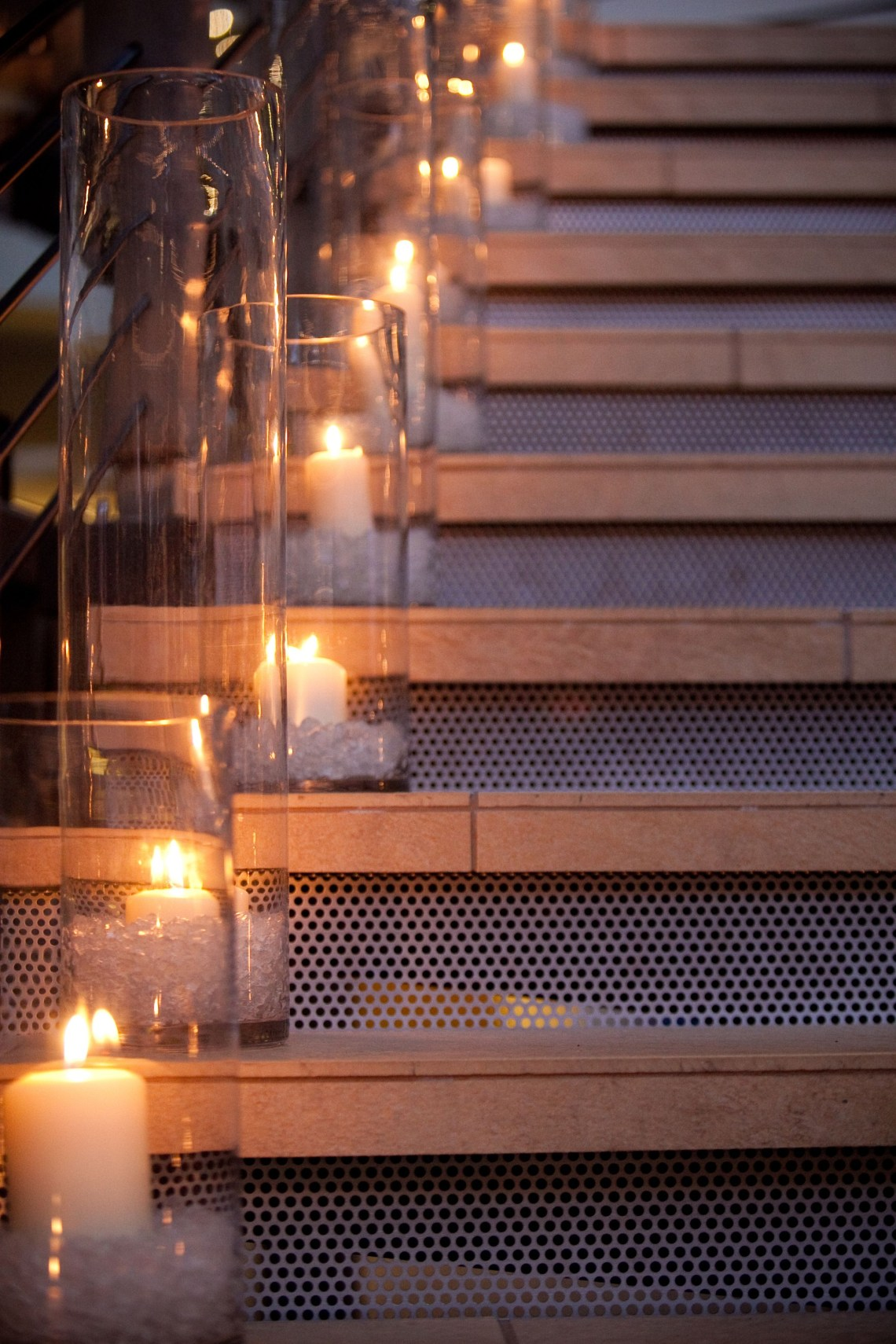 End Of Night I Want Candles In Tall Vases On Stairs Going Out Front Door Always Try To Accent A