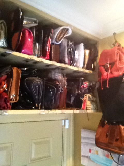 Extra Purse Storage Above Mudroom Door Purse Storage