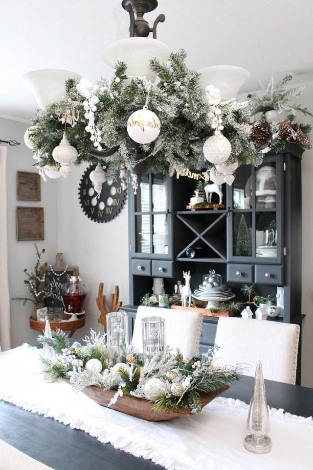 Farmhouse Dining Room Christmas Decorations Farmhouse
