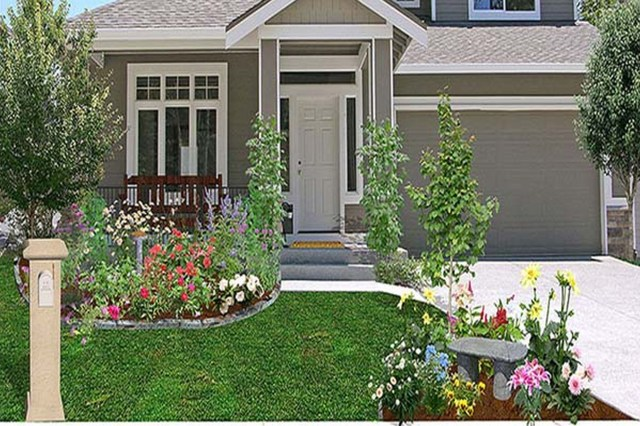Front Yard Do It Yourself Landscaping Stunning Small