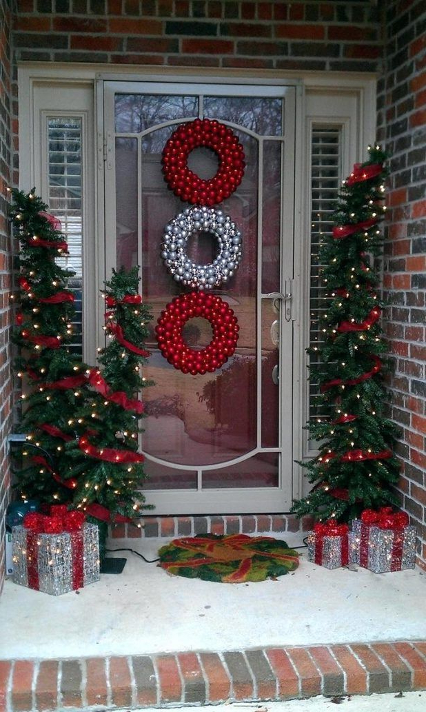 Full Image For Inspirations Holiday Front Door Decorating