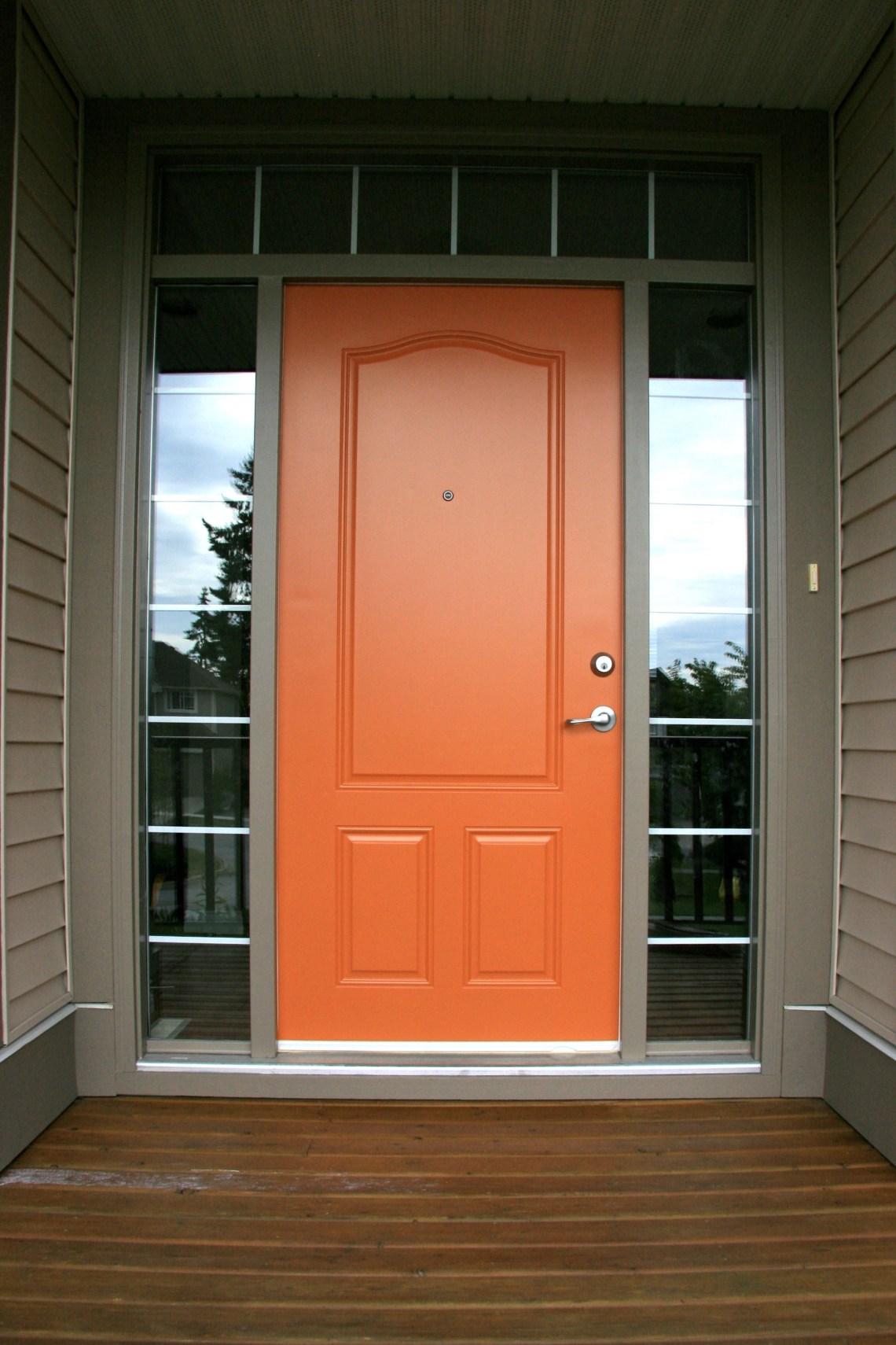 Gallery In 2020 Orange Front Doors Painted Front Doors