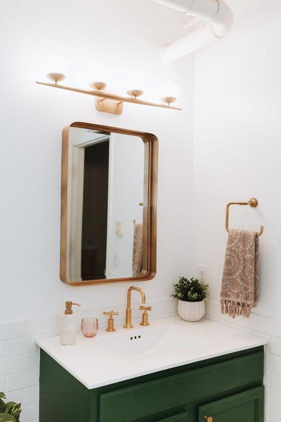 Gold Bathroom Mirror Ideas Lolly Jane