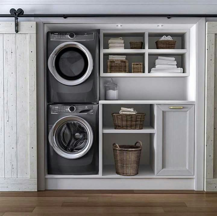 Good Way To Incorporate Laundry In A Hallway Laundry
