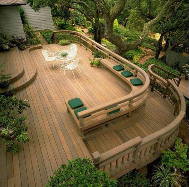 Gorgeous Deck Beautiful Love The Curved Steps