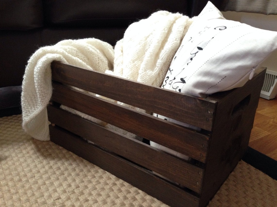 Handmade Rustic Wood Wine Crate Wooden Crate Farmhouse