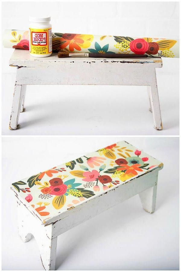Have A Wooden Stool That Needs A Makeover I Revamped An