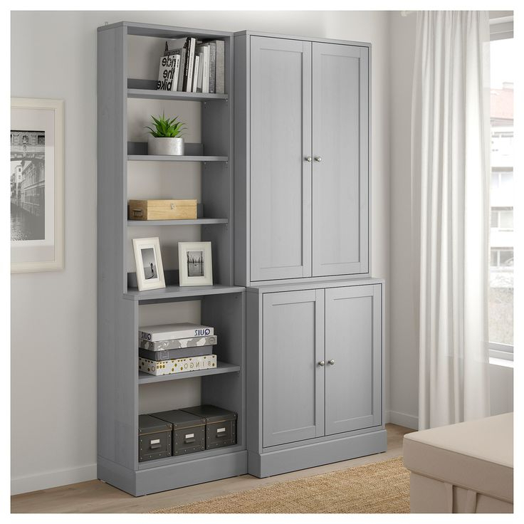 Havsta Storage Combination Gray 55 78x18 12x83 12